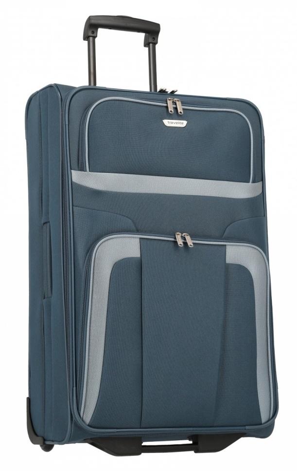 Cestovní kufr Travelite Orlando L 98489-20 80 L modrá