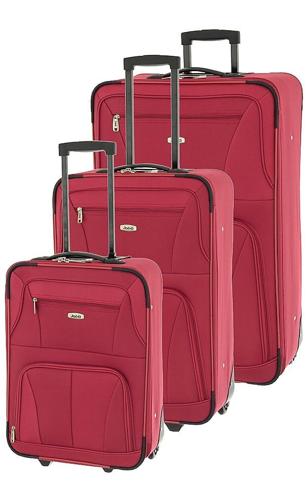 Cestovní kufry set 3ks Dielle S,M,L 748-02 147 L červená