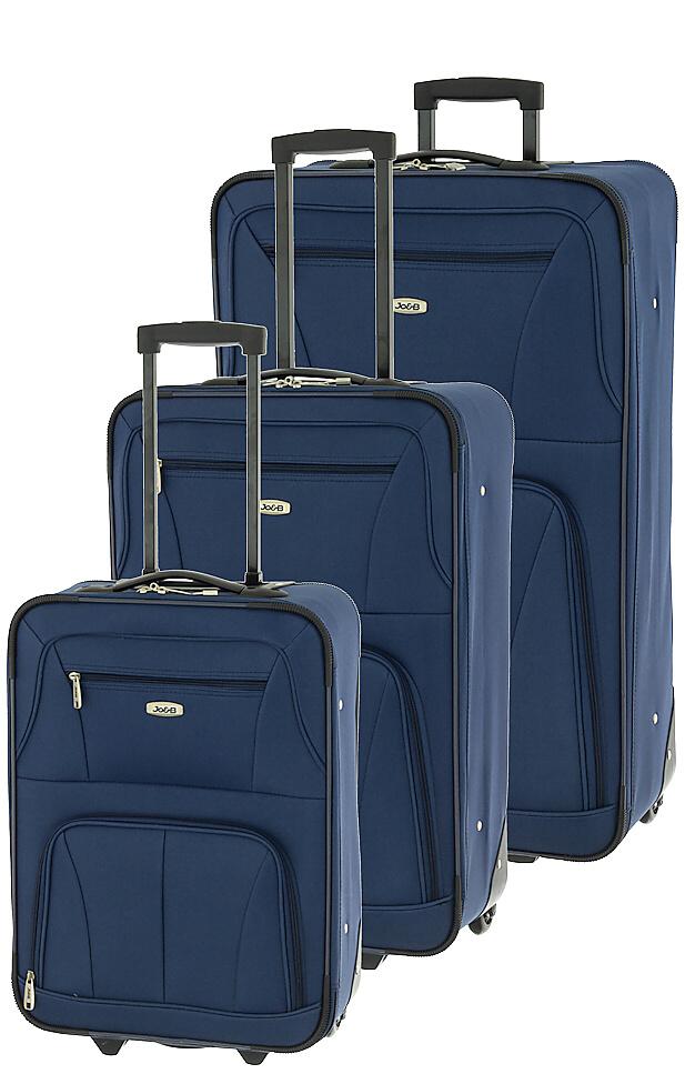 Cestovní kufry set 3ks Dielle S,M,L 748-05 147 L modrá