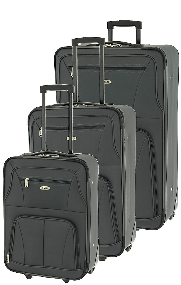 Cestovní kufry set 3ks Dielle S,M,L 748-23 147 L antracitová