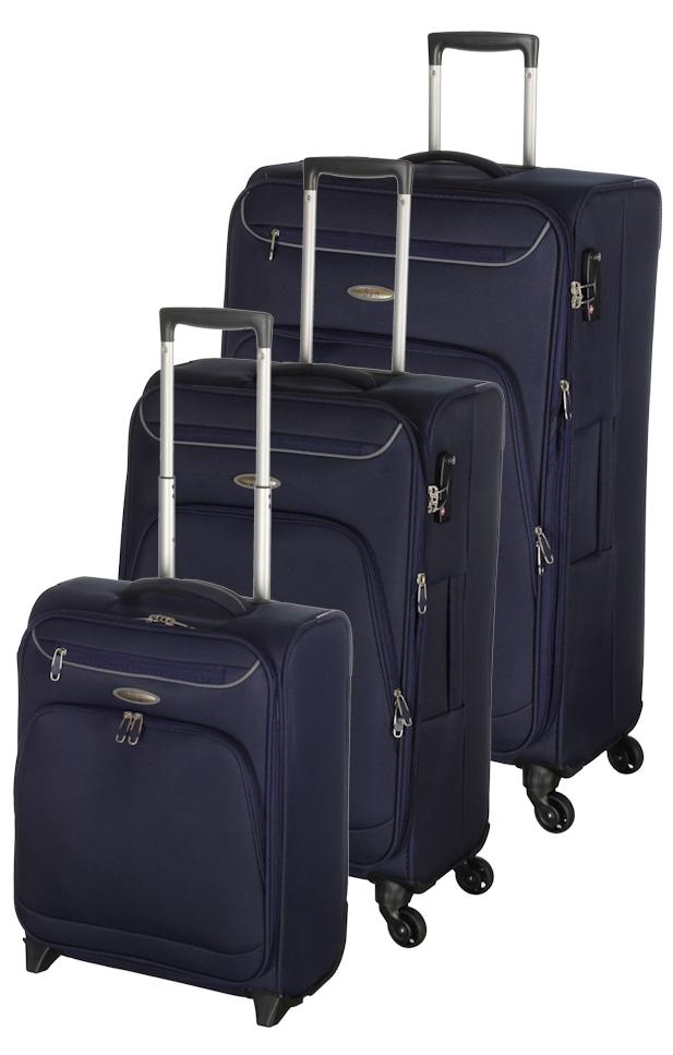 Cestovní kufry set 3ks d&n S,M,L 6404-06 modrá