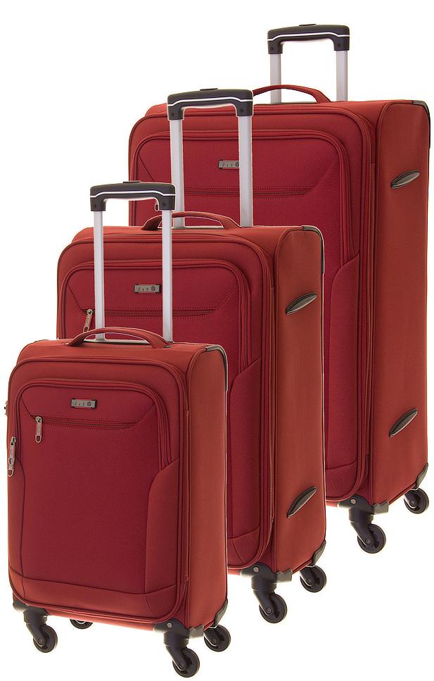 Cestovní kufry set 3ks d&n S,M,L 6804SET-12 189 L vínová
