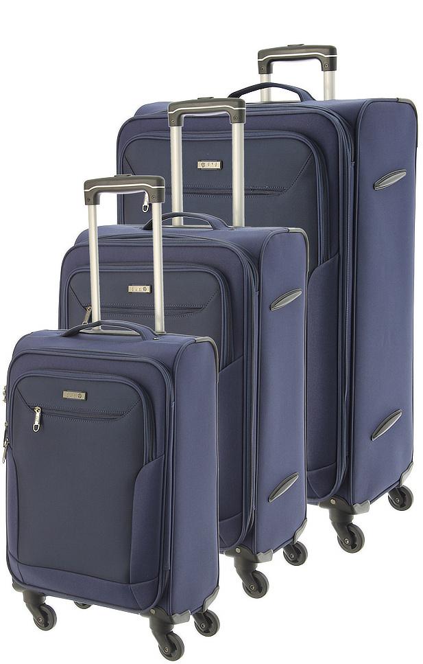 Cestovní kufry set 3ks d&n S,M,L 6804SET-16 189 L modrá