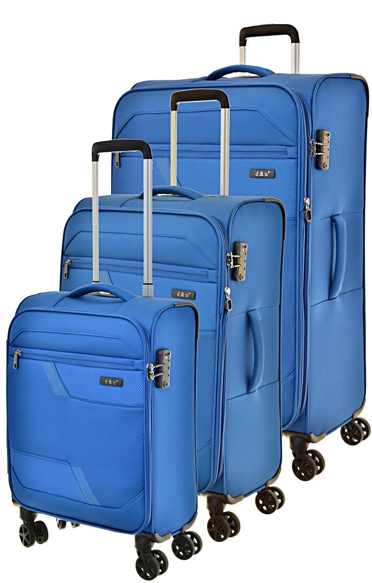 Cestovní kufry set 3ks d&n S,M,L 7004-06 203 L modrá