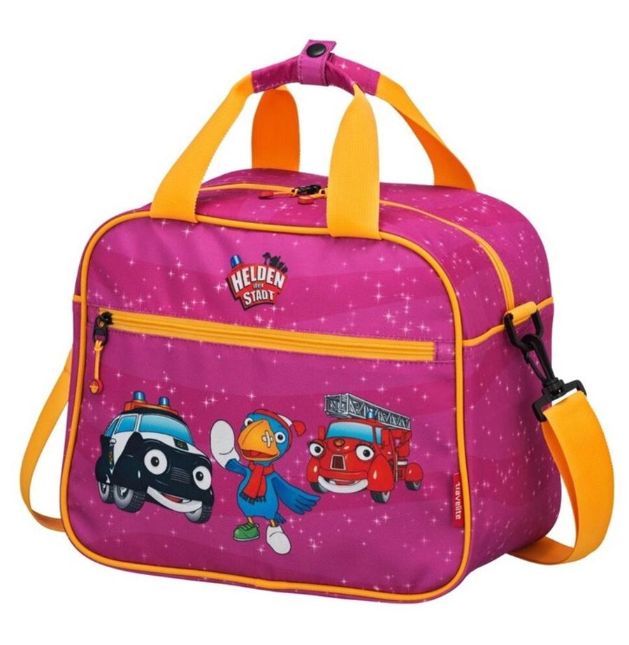 Cestovní taška Travelite Statečná autíčka 81685-17 15 L růžová
