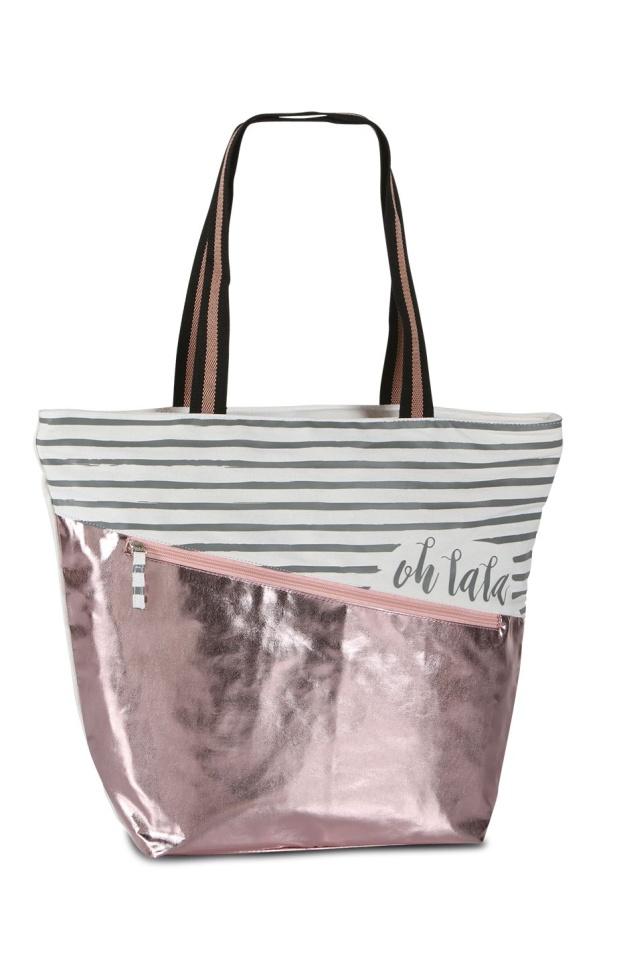 Dámská taška Fabrizio shopper shine 50340-5700 28 L růžová