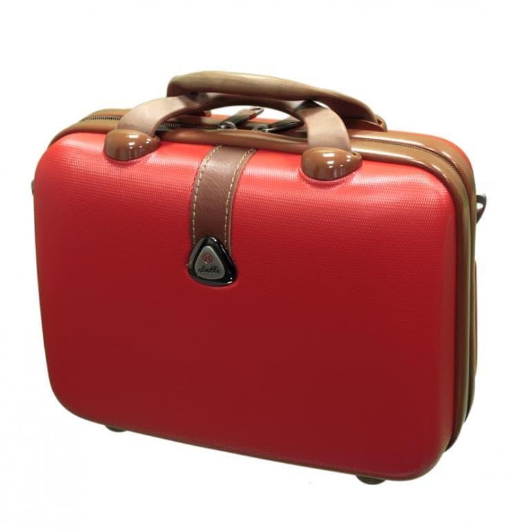 Kosmetický kufr Dielle 255-B-02 10 L červená