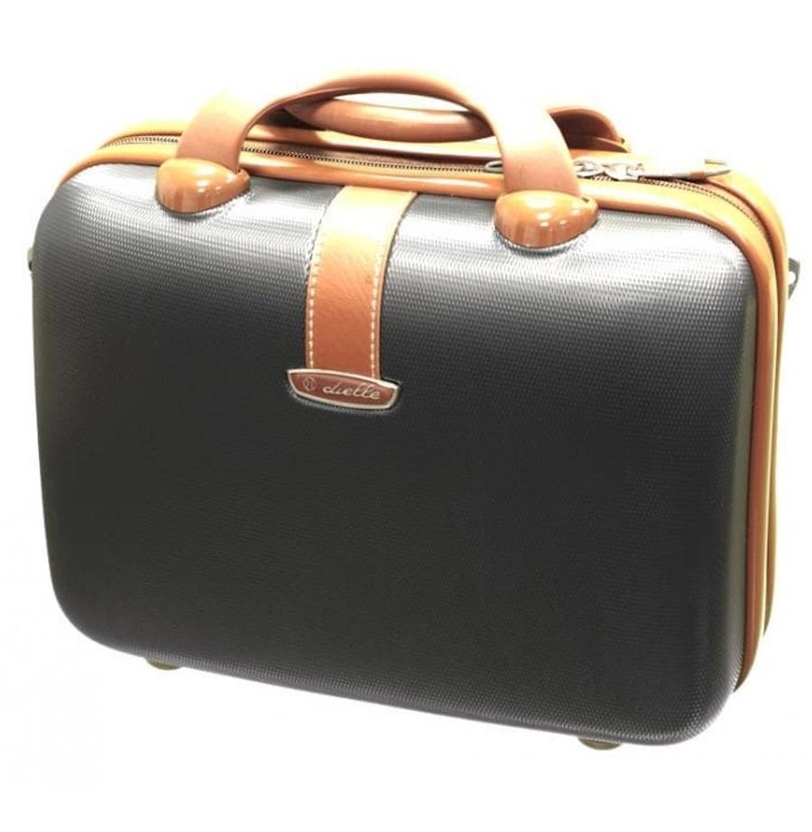 Kosmetický kufr Dielle 255-B-23 10 L antracitová