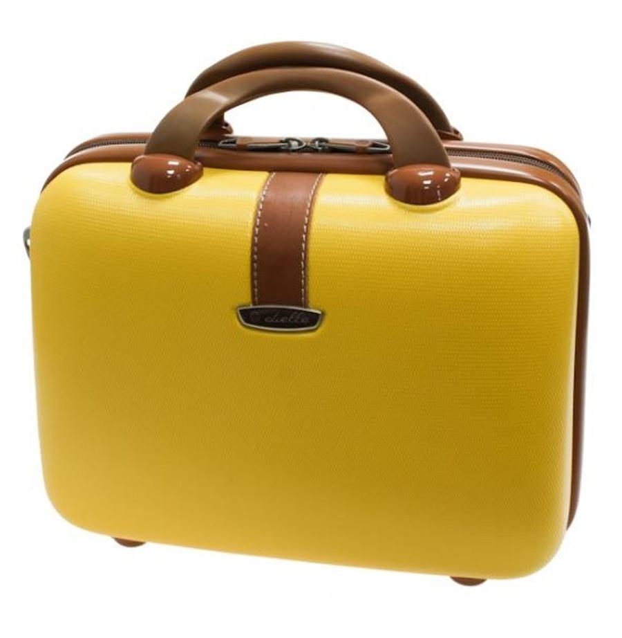 Kosmetický kufr Dielle 255-B-37 10 L Žlutá
