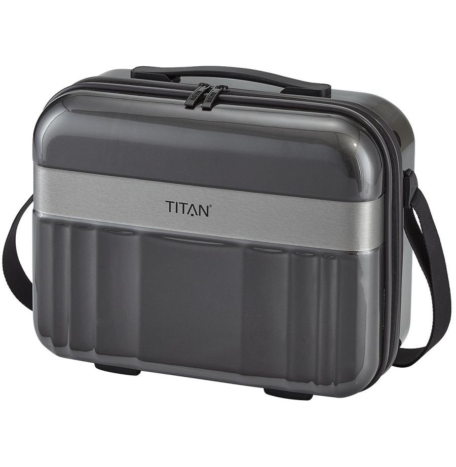 Kosmeticky kufr Titan Spotlight polykarbonat 836702-04 20 L antracitová