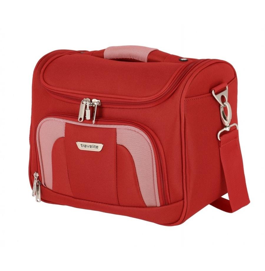 Kosmetický kufr Travelite Orlando 98492-10 17 L červená