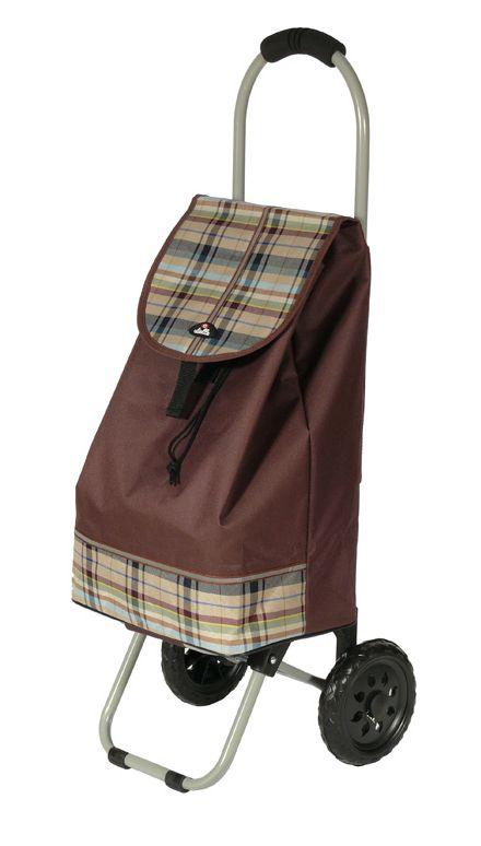 Nákupní taška na kolečkách Dielle CARR1-25 31 L hnědá
