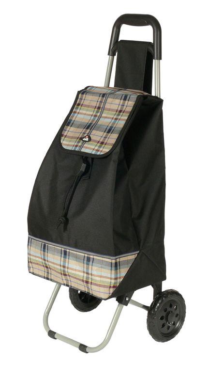 Nákupní taška na kolečkách Dielle CARR2-01 44 L černá