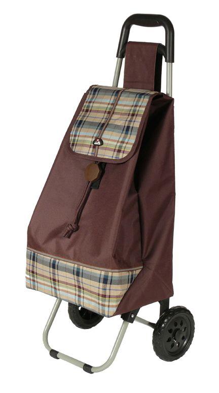 Nákupní taška na kolečkách Dielle CARR2-25 44 L hnědá