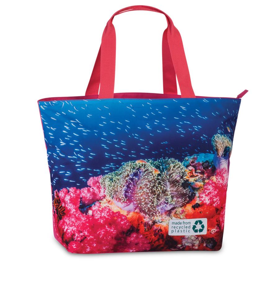 Plážová taška Fabrizio Recycled 50362-2200 30 L růžová