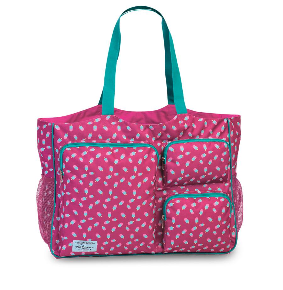 Plážová taška Fabrizio XXL 50371-3100 37 L růžová