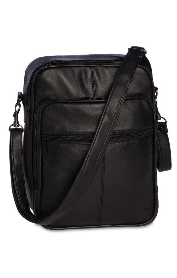 Taška přes rameno kožená Fabrizio 62194-0100 3 L černá