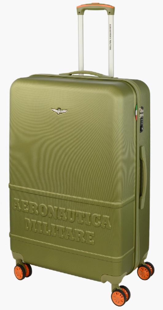 Cestovní kufr Aeronautica Militare Force L AM-220-70-33 100 L zelená