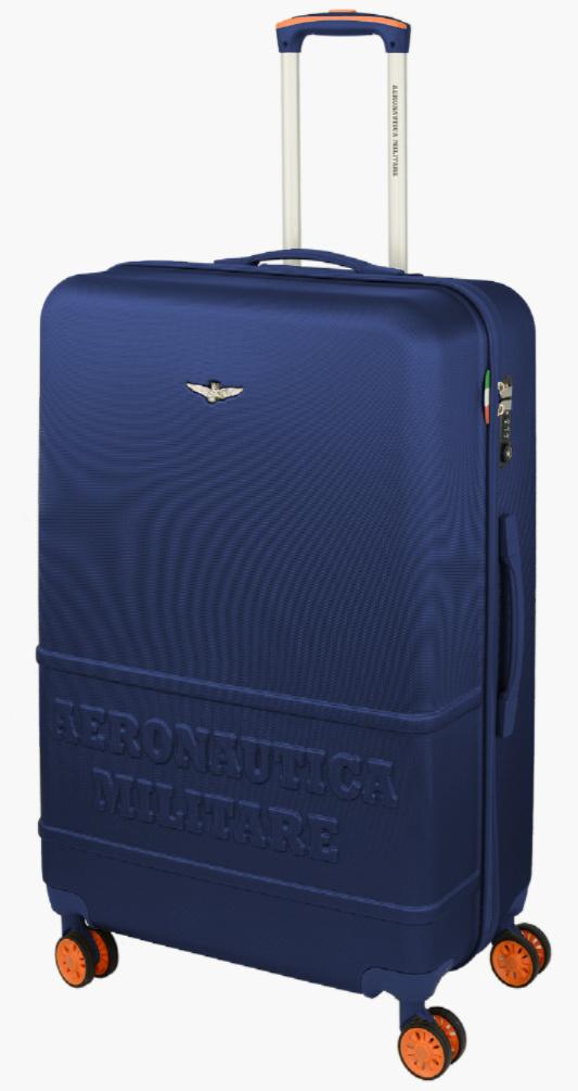 Cestovní kufr Aeronautica Militare Force L AM-220-70-05 100 L modrá