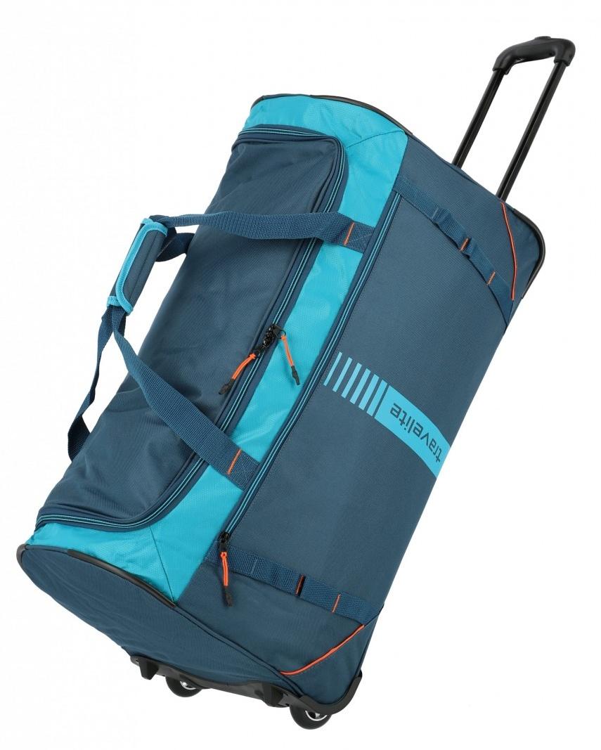 Cestovní taška na kolečkách Travelite Active 96281-22 86 L petrolejová