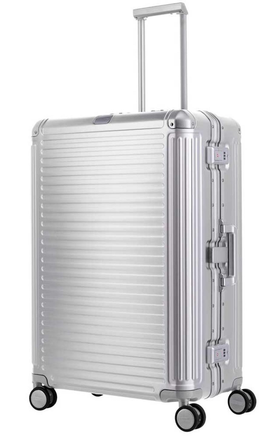 Cestovní kufr Travelite NEXT 4W L 79949-56 100 L stříbrná