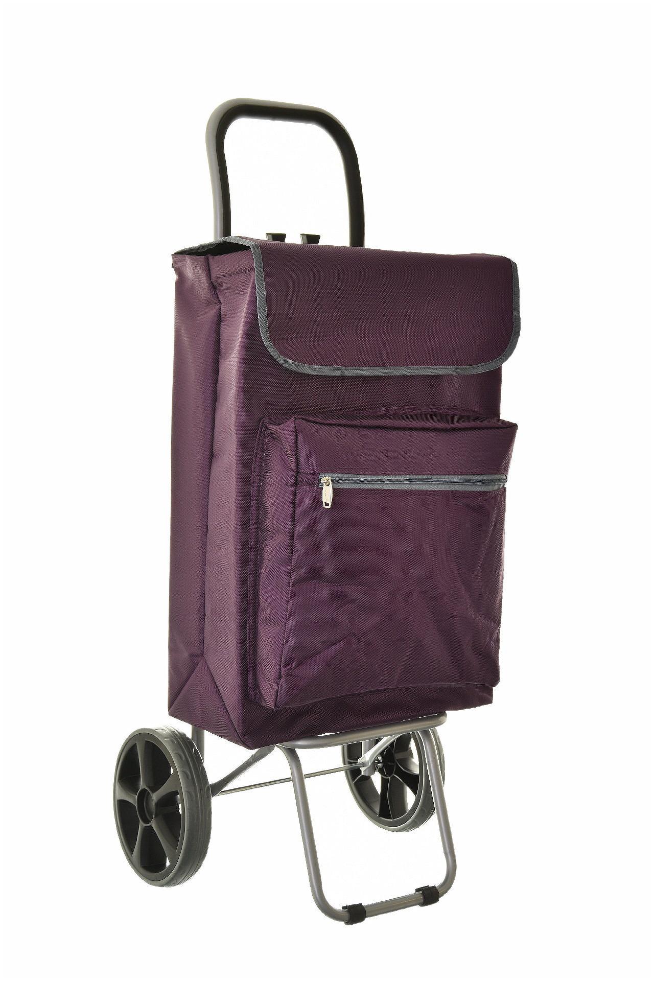 Nákupní taška na kolečkách Madisson 82032-04 52 L fialová