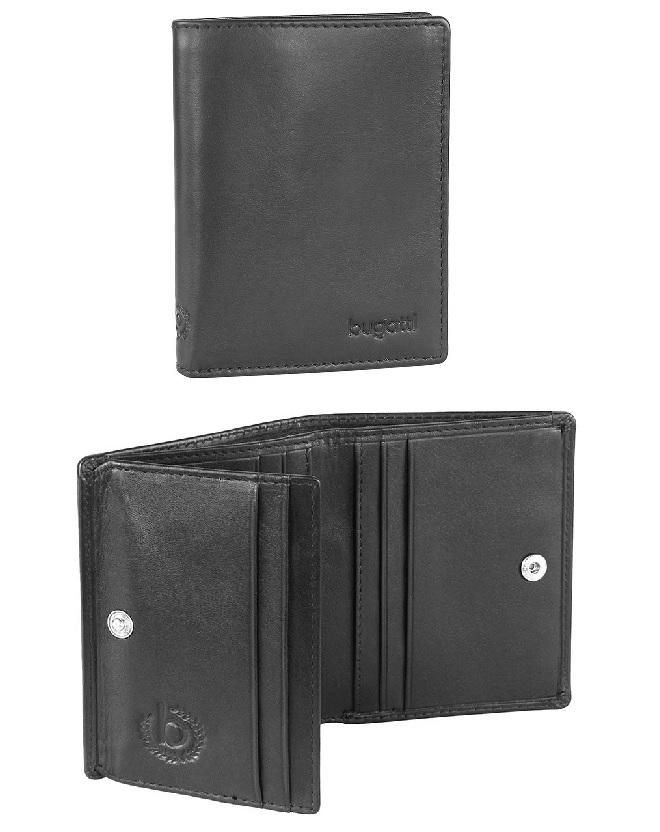 Pouzdro na kreditní karty Bugatti Primo flap 491087-01 černá