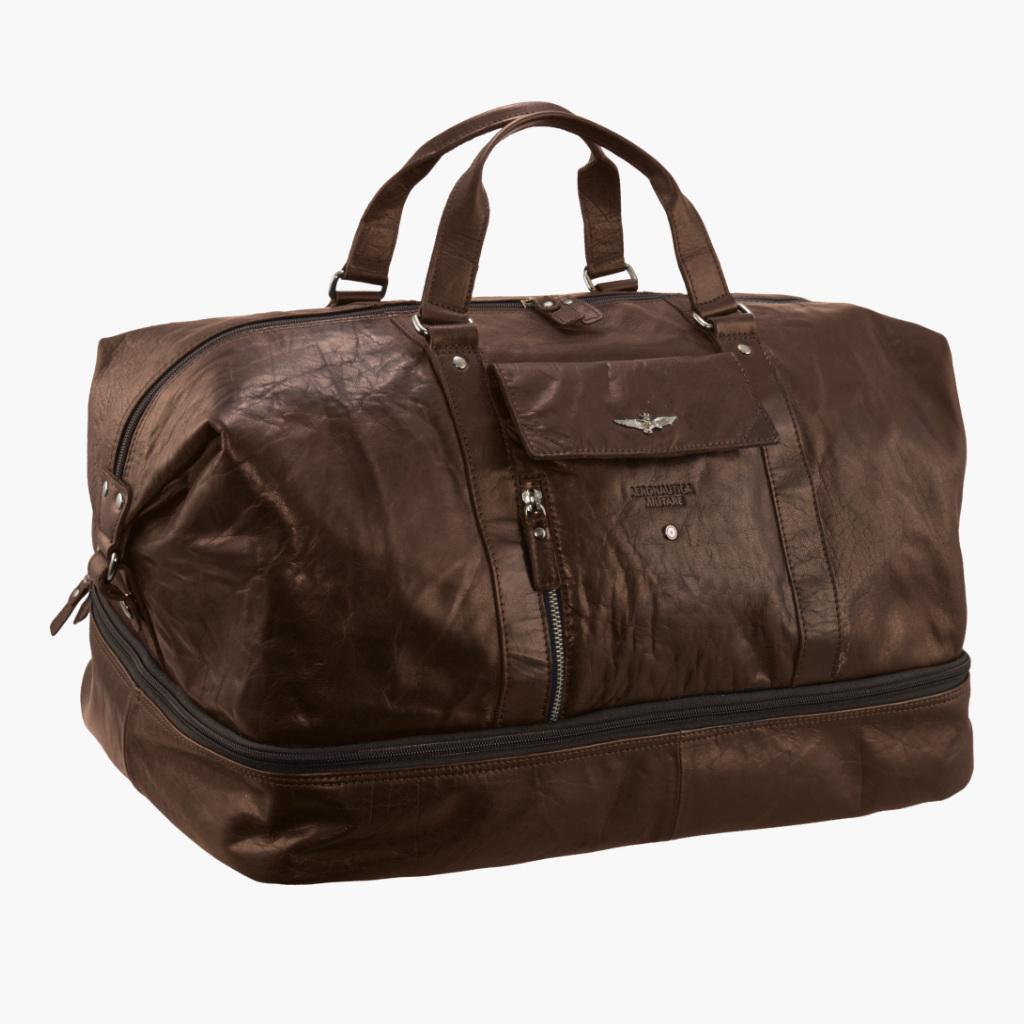 Cestovní taška Aeronautica Militare Vintage AM-308-25 46 L hnědá