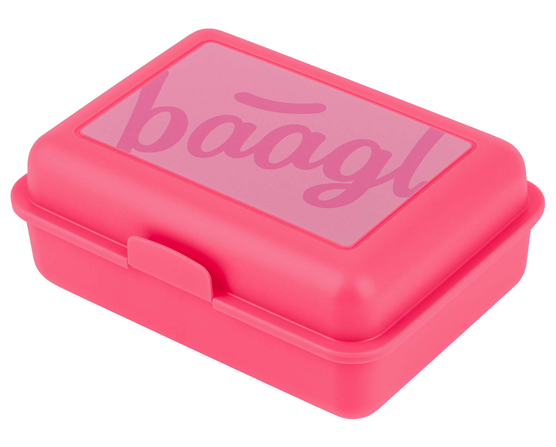 BAAGL Box na svačinu Logo růžový A-30436 růžová