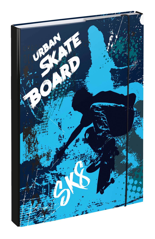 BAAGL Desky na školní sešity A4 Skateboard