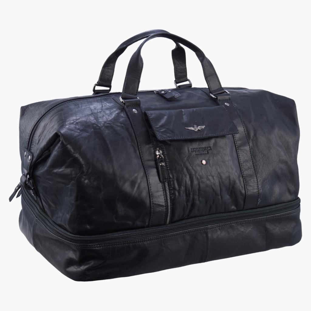 Cestovní taška Aeronautica Militare Vintage AM-308-01 46 L černá