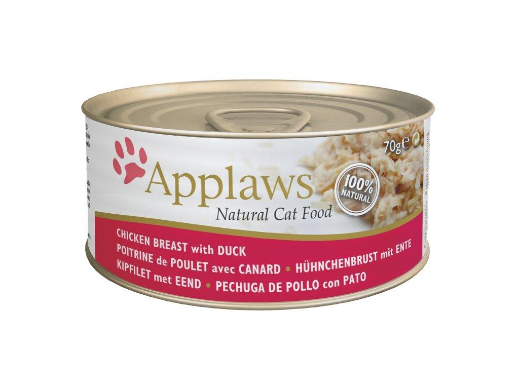Applaws Cat konz. kuřecí prsa a kachna 70 g