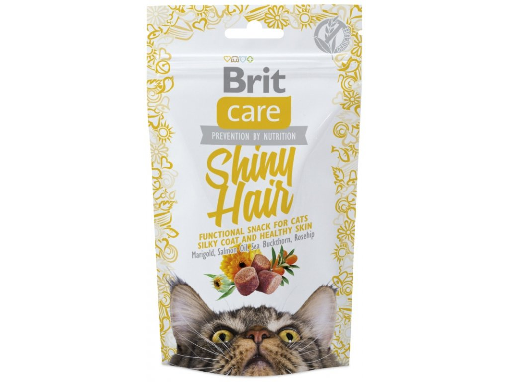 Brit Care Cat Snack Shiny Hair 50 g
