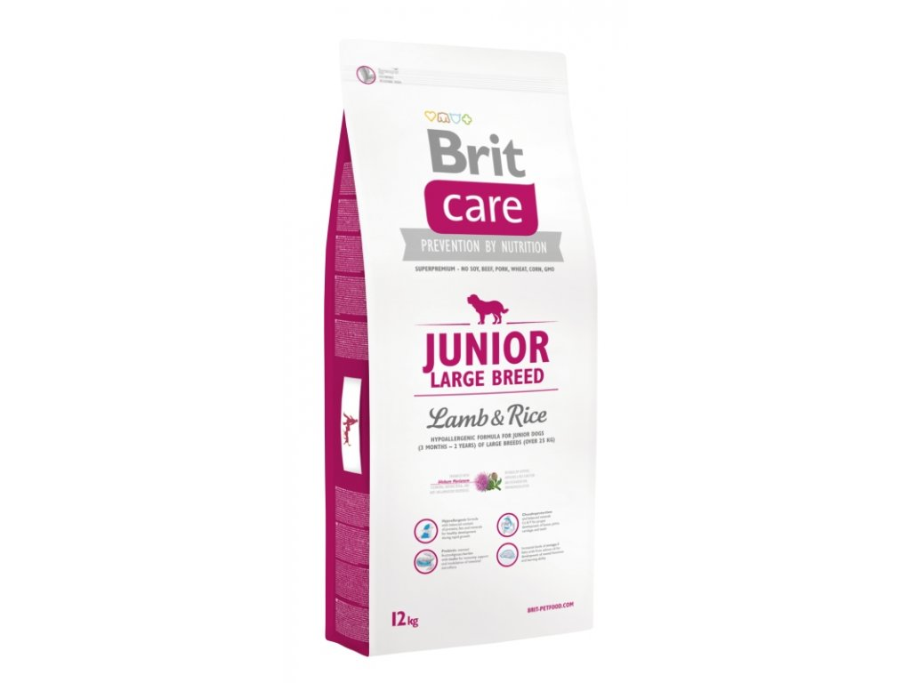 BRIT CARE DOG JUNIOR LARGE BREED LAMB & RICE NOVÝ 12 KG