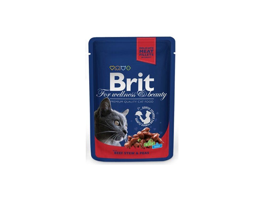 Brit Premium Cat kaps. Gravy Beef Stew & Peas 100 g