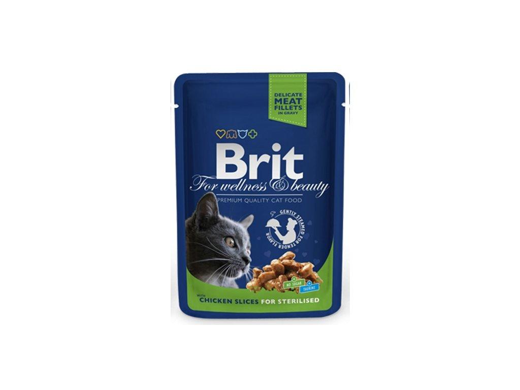 Brit Premium Cat kaps. Chicken Slices for Steril. 100 g