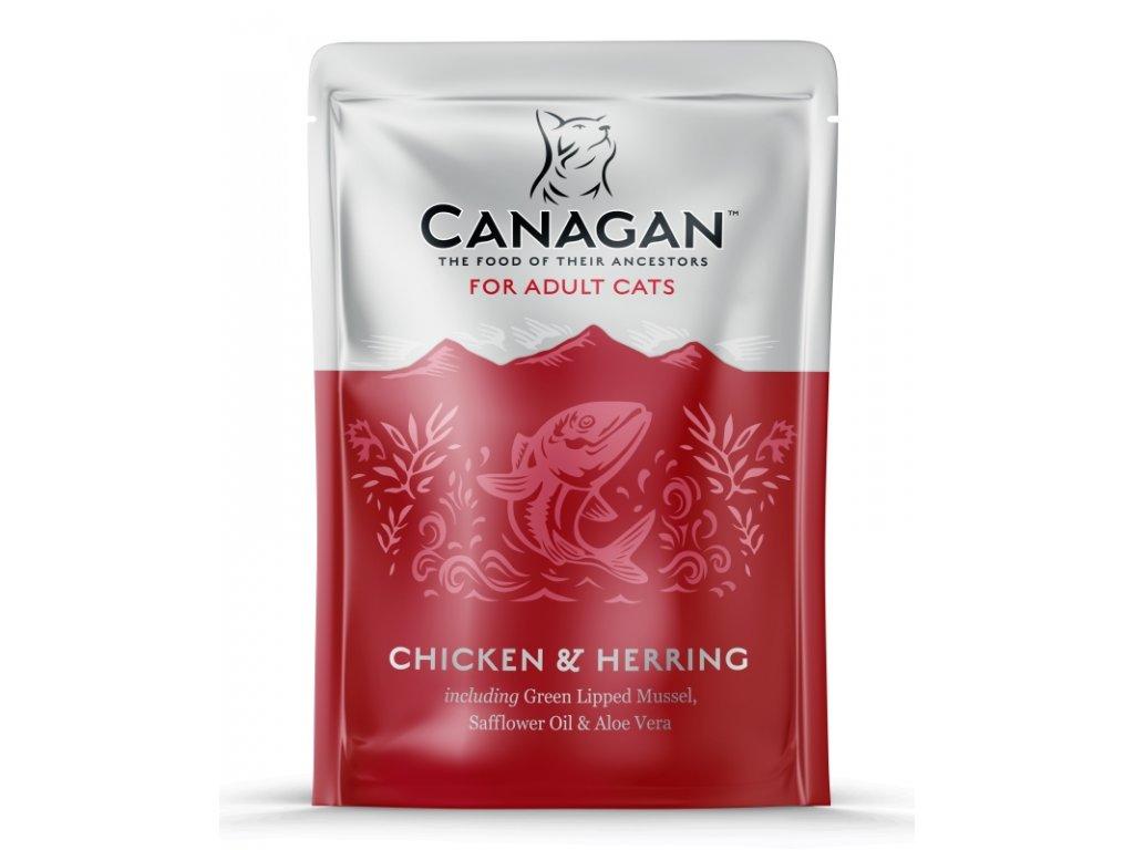 Canagan Cat kaps. Adult kuře a sleď 85 g