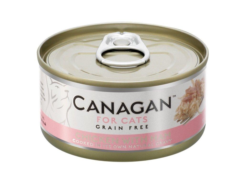 Canagan Cat konz. Kuře se šunkou 75 g