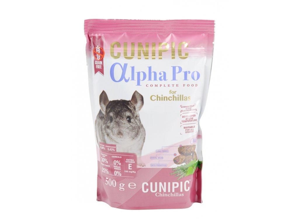 Cunipic Alpha Pro Chinchilla činčila 500 g