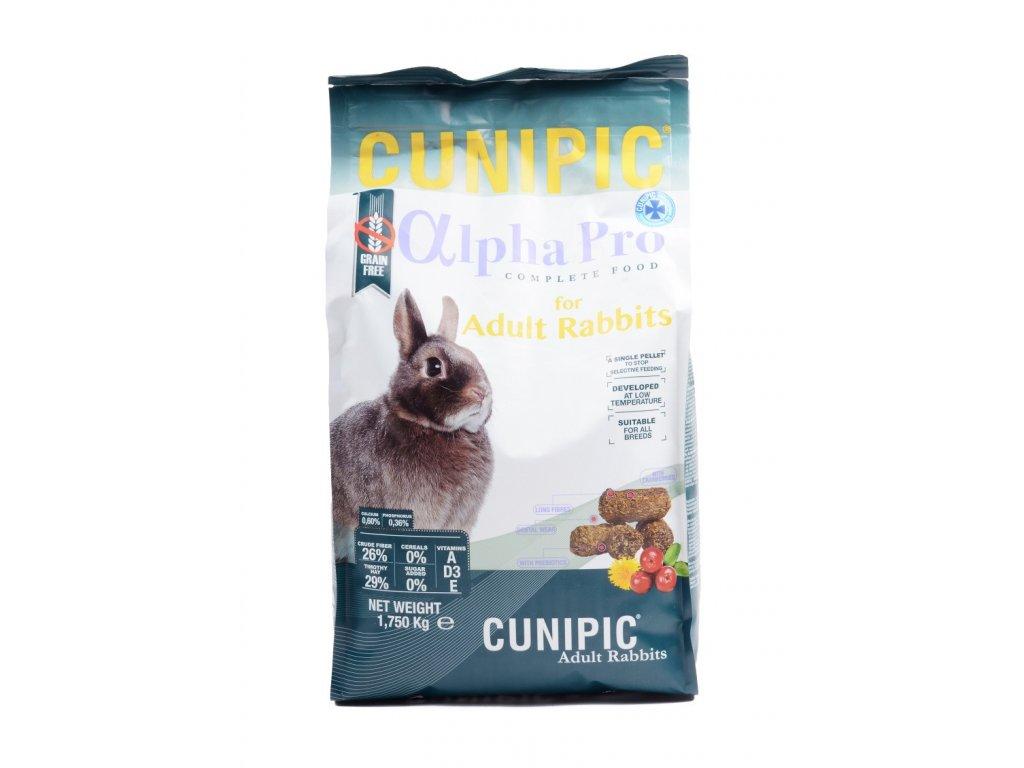 Cunipic Alpha Pro Rabbit Adult králík dospělý 1,75 kg