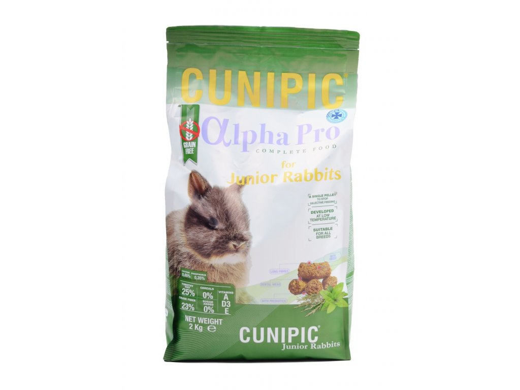 Cunipic Alpha Pro Rabbit Junior králík mladý 2 kg