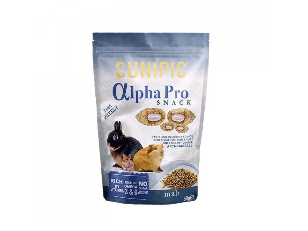 Cunipic Alpha Pro Snack Anti Hairball Malt slad 50 g
