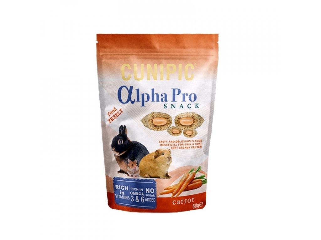 Cunipic Alpha Pro Snack Carrot mrkev 50 g
