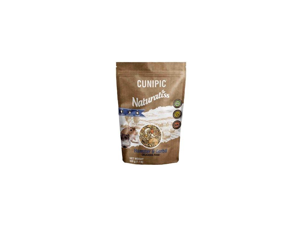 Cunipic Naturaliss Hamster & Gerbil pro křečky a pískomily 500 g