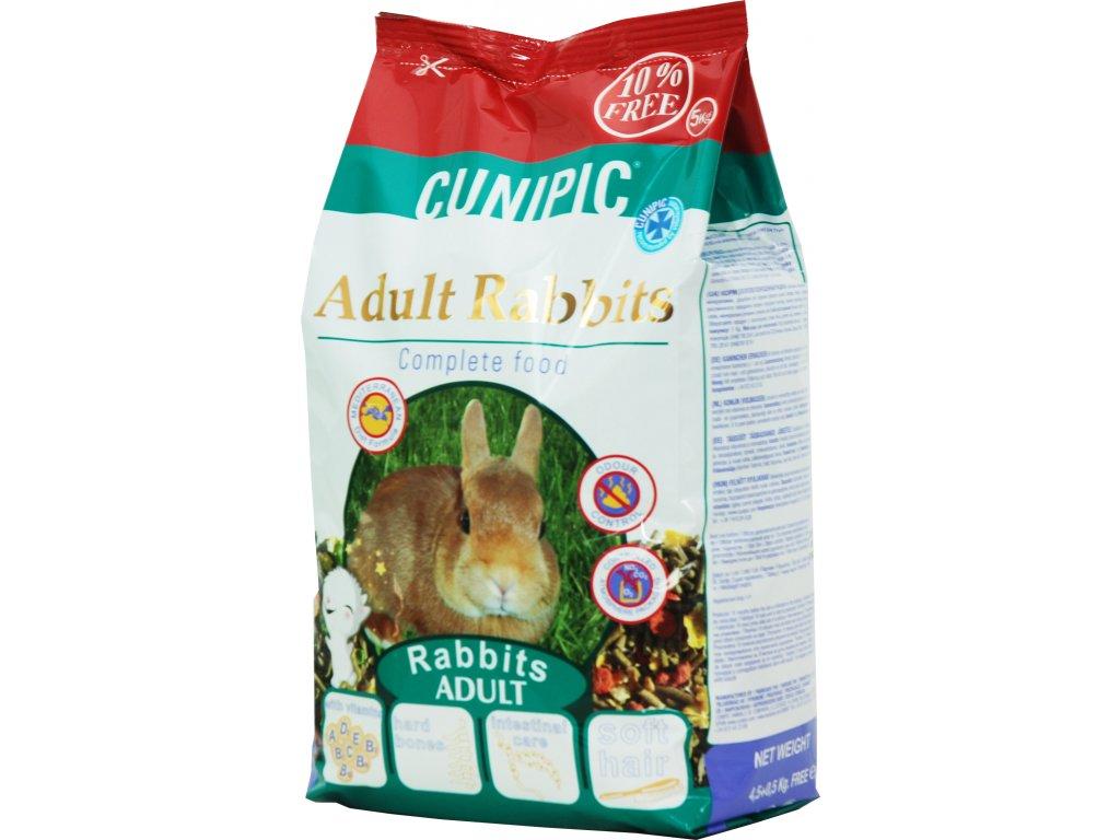 Cunipic Rabbit Adult králík dospělý 4,5 kg + 0,5 kg zdarma