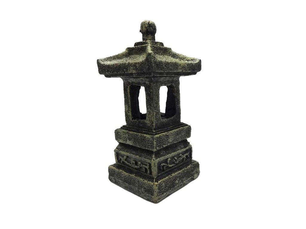 Dekorace do akvária Pagoda Duvo+ 5 x 5 x 11 cm