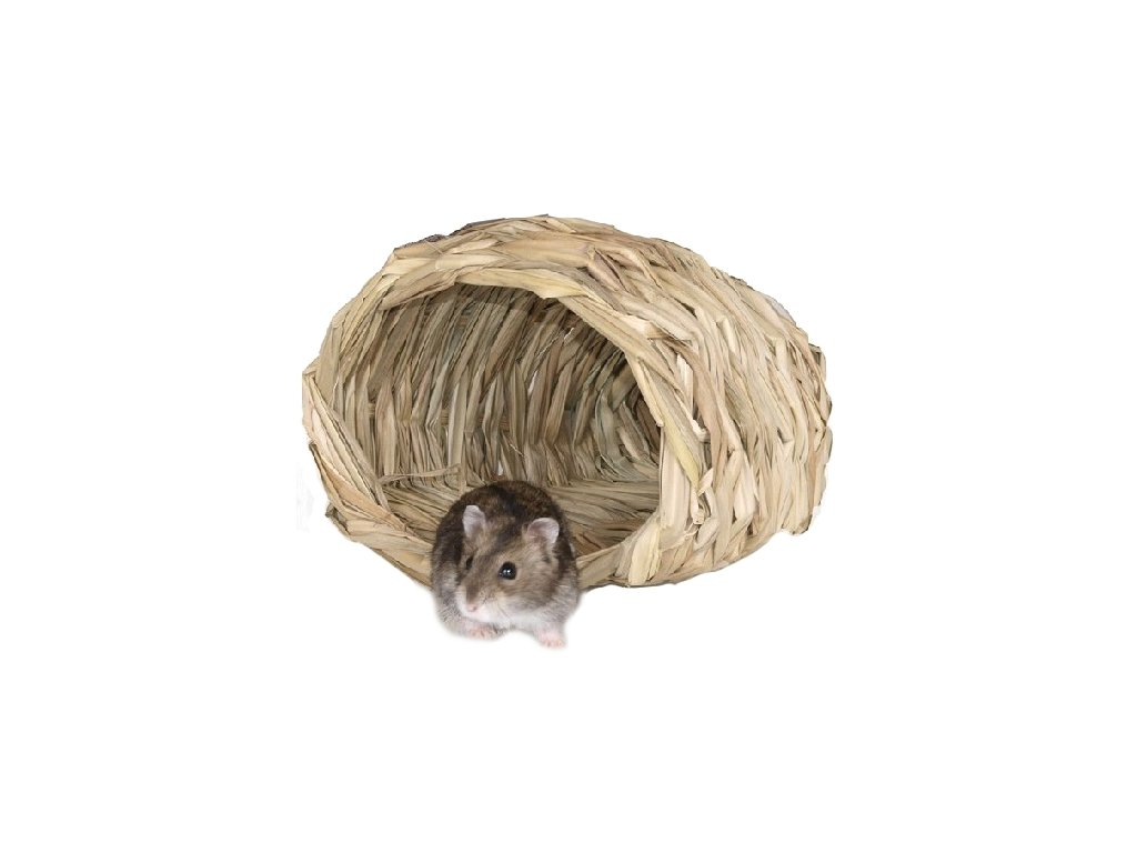 Domek pletený koš křeček myš 15 x 14 x 10 cm