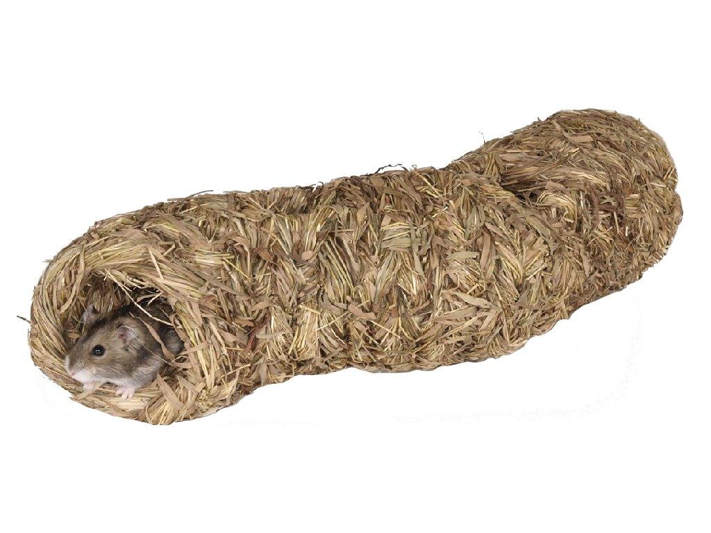 Domek seno křeček myš Prolézačka Tommi 31 cm, pr. 7 cm