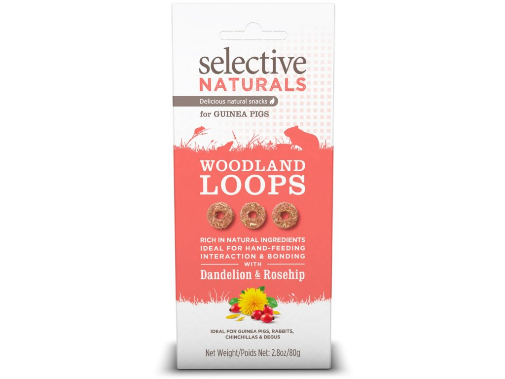 Supreme Selective Naturals snack Woodland Loops 60 g