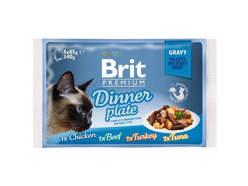 Brit Premium kapsička Gravy Dinner Plate 4 x 85 g
